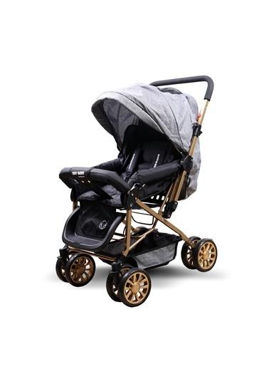 ESY LİNE Esy Line Çift Yönlü Bebek Arabası Gold-Gri Altın